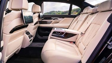 BMW 7 Series saloon - rear seats side view