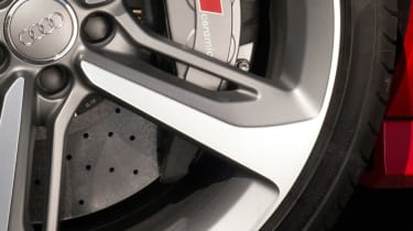 Choose Dynamic Package plus and massive ceramic brakes help it shed speed