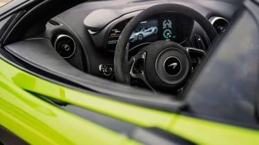 McLaren 600LT Spider convertible instruments