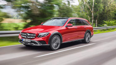 The Mercedes E-Class All-Terrain takes on the Audi A6 Allroad, with four-wheel-drive a raised suspension