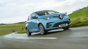 Renault ZOE - front 3/4 dynamic