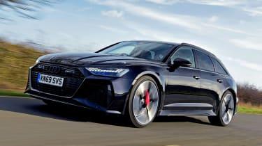 Audi RS6 Avant estate front 3/4 driving