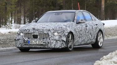 Mercedes-AMG C43 spotted testing