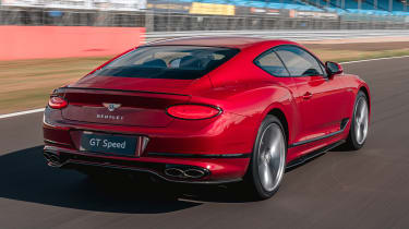 Bentley Continental GT Speed rear 3/4 tracking