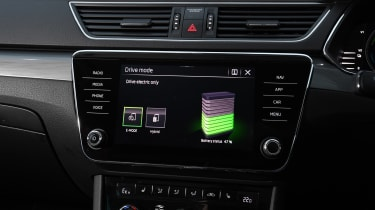 Skoda Superb Estate infotainment display