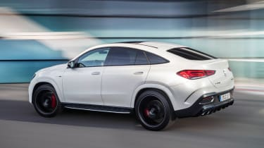 2020 Mercedes-AMG GLE 63 S Coupe rear 3/4 driving
