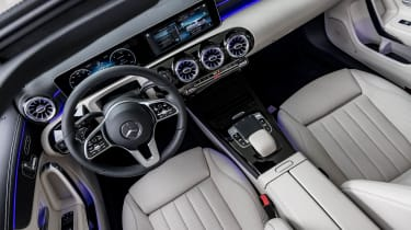 Ambient lighting, high-quality materials and a stylish, minimalist design help make the A-Class' interior stand out