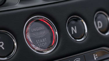 Aston Martin DBS Superleggera Volante start button