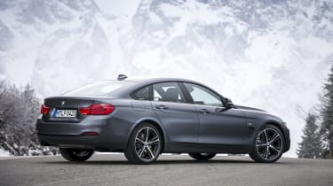 BMW 4 Series Gran Coupe rear 3/4 static