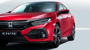 The Sport's aggressive intakes give a flavour of a full-blown Type-R