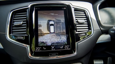 Volvo XC90 Recharge camera screen