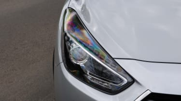The headlights look quite striking, incorporating a sharp angle
