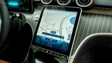 Mercedes C-Class Estate infotainment display