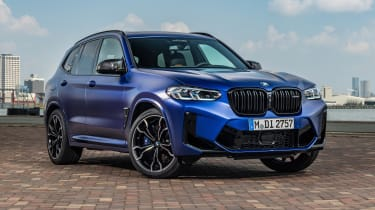 2021 BMW X3 M front 3/4 static