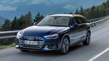 Audi A4 Avant estate front 3/4 tracking