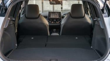 Toyota Corolla hatchback boot seats folded