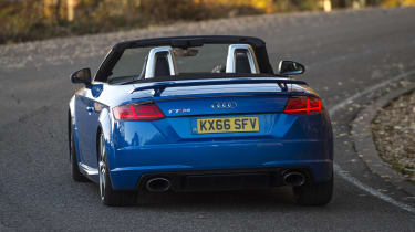 It may not be quite as fun to drive as some rivals, but the TT RS is stable and approachable