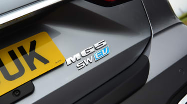 MG 5 EV estate rear badges