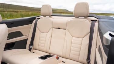 BMW 4 Series Convertible rear seats