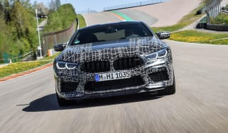 2019 BMW M8 prototype - front view driving