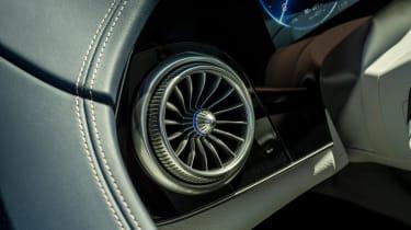 Mercedes EQS hatchback air vents