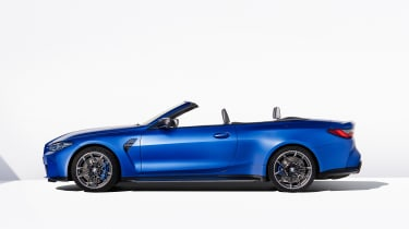 2021 BMW M4 Competition Convertible M xDrive - side view roof down