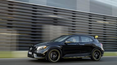 A limited trim – called 'Yellow Night Edition' is also available for the GLA AMG 45