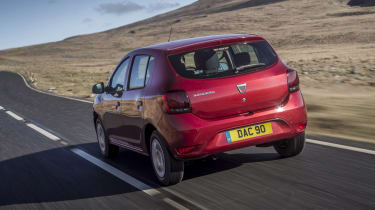 Dacia Sandero hatchback rear 3/4 tracking