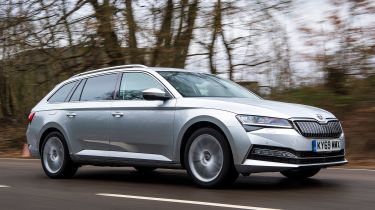 Skoda Superb Estate driving