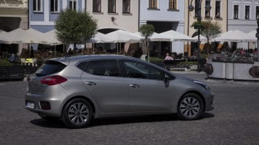 The five-door Cee'd is easy to get in and out of, with four adults able to travel in comfort in its roomy interior