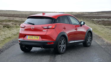 The CX-3 is one of the most sleekly styled compact SUVs on the market