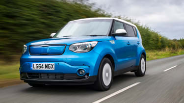 The Kia Soul EV's boxy shape means there's plenty of space for passengers