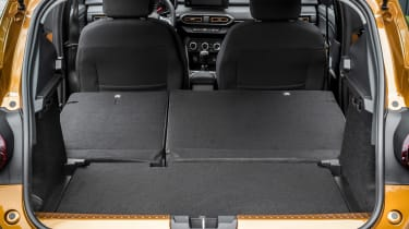 Dacia Sandero Stepway hatchback boot seats folded