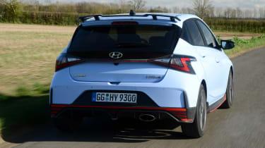Hyundai i20 N hatchback rear tracking