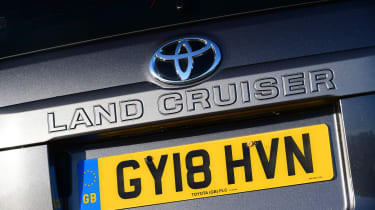 Toyota Land Cruiser Utility rear badge