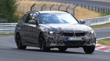 BMW 3 Series Touring tracking front spy shot