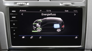 It can provide systems information about the e-Golf's electric power supply...