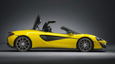 The McLaren 570S Spider offers extreme speed, pin-sharp handling and folding hard top roof