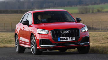 Audi SQ2 SUV front action