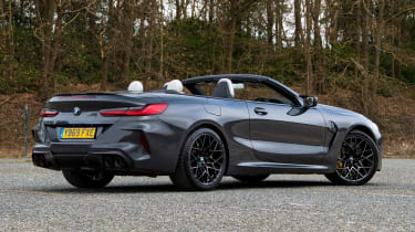 BMW M8 Convertible rear 3/4 static