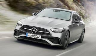 2021 Mercedes C-Class driving