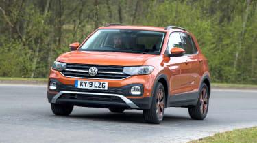 Volkswagen T-Cross SUV nose cornering