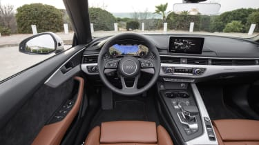 We've become accustomed to sleek, modern interiors in new Audis and the latest A5 Cabriolet is no exception.