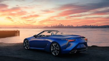 Lexus LC500 Convertible - rear view