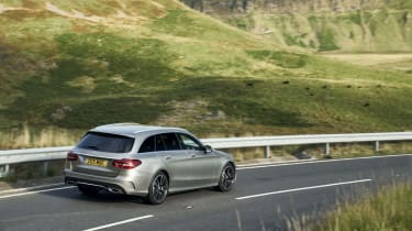 Mercedes C-Class Estate rear 3/4 driving