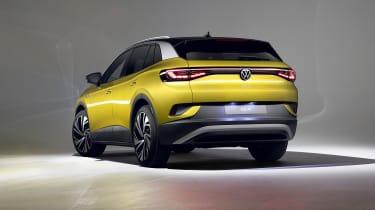 2021 Volkswagen ID.4 in yellow - rear view