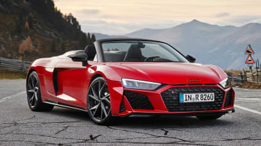 2020 Audi R8 RWD Spyder - front 3/4 static view