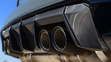 BMW M4 Coupe rear exhaust tips