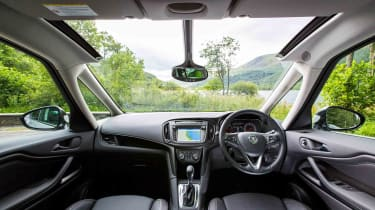 The Zafira's huge windscreen gives the interior a very bright and airy feel