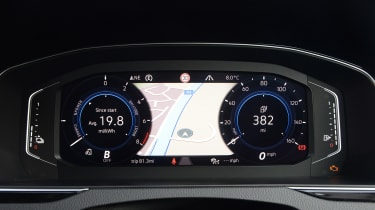 Volkswagen Passat GTE Estate digital instrument cluster - map view